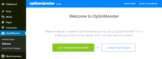 Connect OptinMonster to your WordPress site