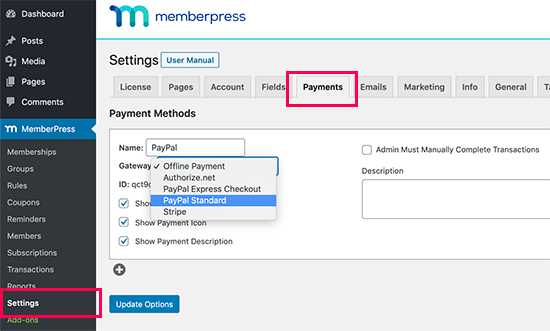 Add payment method for your paywall subscriptions