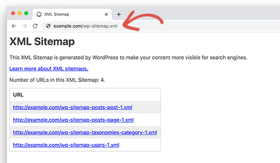 Default WordPress generated sitemaps in WordPress 5.5