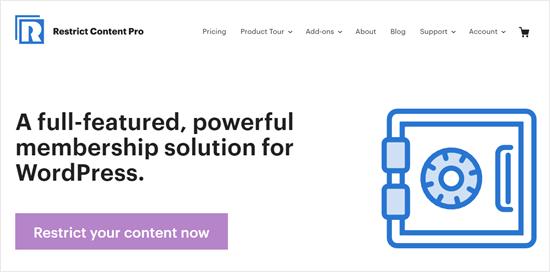 The Restrict Content Pro website