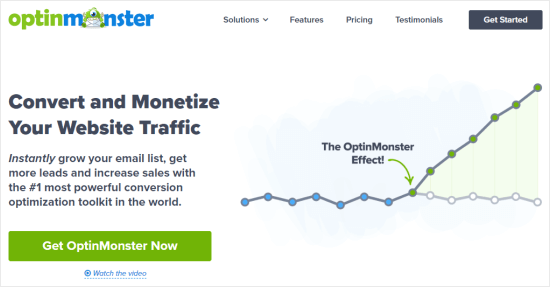 The OptinMonster website