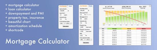 Mortgage Calculator plugin for WordPress