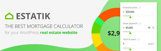 WordPress Mortgage Calculator Estatik