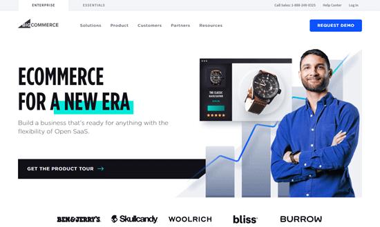 The BigCommerce website