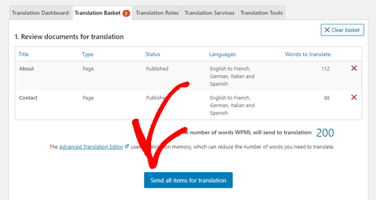 Send your content for translation