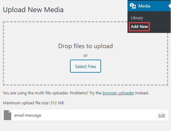 Successfully uploading your file without getting a security error message