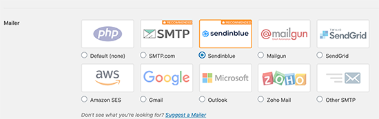 SMTP mailers in WP Mail SMTP