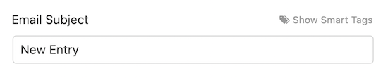 Default email subject line