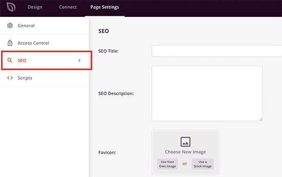 SeedProd page builder interface