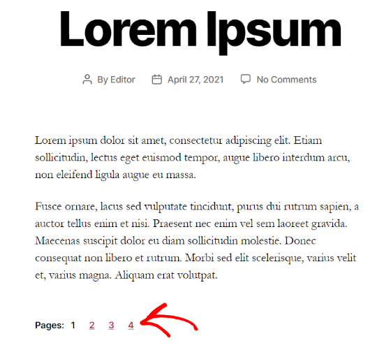 Post pagination example
