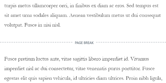 See page break in your content