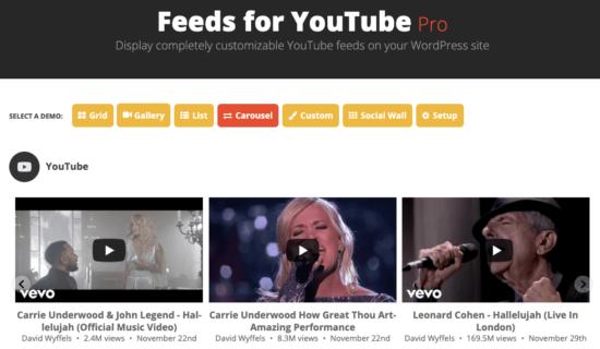 Smash Balloon Feeds for YouTube Pro