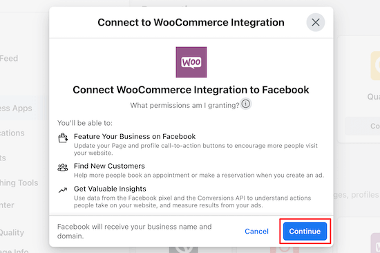 Connect WooCommerce and Facebook