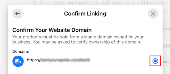 Confirm WooCommerce store domain name