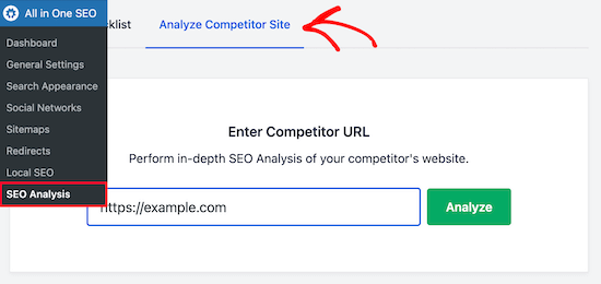 Check competitor website SEO