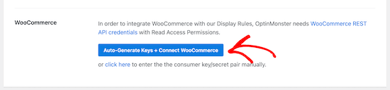 Connect OptinMonster and WooCommerce