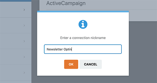 Provide a connection name