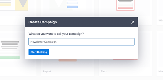 Enter campaign name