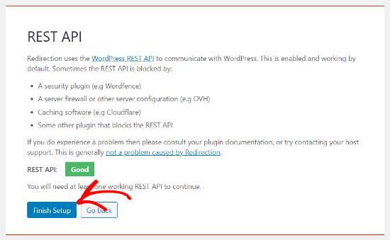 Rest API test in Redirection
